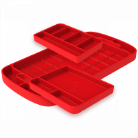 Shop By Part - Gear & Apparel - S&B Filters - S&B Filters - Tool Tray Silicone 3 Piece Set Color Red S&B - 80-1001