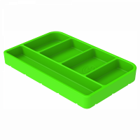 Shop By Part - Gear & Apparel - S&B Filters - S&B Filters - Tool Tray Silicone Small Color Lime Green S&B - 80-1000S