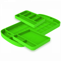 Shop By Part - Gear & Apparel - S&B Filters - S&B Filters - Tool Tray Silicone 3 Piece Set Color Lime Green S&B - 80-1000