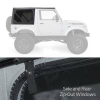 Exterior - Soft Tops - Smittybilt - Smittybilt - Soft Top 86-94 Suzuki Samurai OEM Replacement W/Zip Out Windows Black - 98515