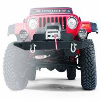 Warn - Warn Direct-Fit Grille Guard Winch Mount Powder Coated Black Steel W/License Mount 61853