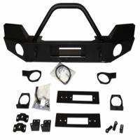 Warn - Warn Direct-Fit Grille Guard With Internal Winch Mount Powder Coated Black Steel 87750