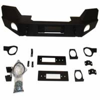 Warn - Warn Direct-Fit Grille Guard With Internal Winch Mount Powder Coated Black Steel 87775