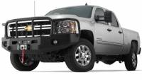 Warn - Warn 1-Piece Direct-Fit Grill Guard With Winch Mount Textured Black Steel 95220
