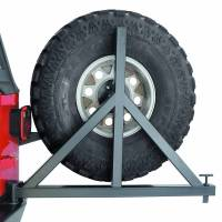 Warn - Warn Mounts to 62947 Rear Bumper; Up to 37 Inch Tire; Black; Steel; Direct-Fit 63253 - Image 1