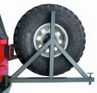 Warn - Warn Mounts to 62947 Rear Bumper; Up to 37 Inch Tire; Black; Steel; Direct-Fit 63253 - Image 4