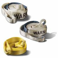 Towing - Towing Accessories - Warn - Warn 2 Inch x 30 Ft Rated to 14400 LBs 18 Inch Nylon Sliding Sleeve White Nylon Web 88922