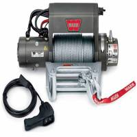 Winches & Recovery - Winches - Warn - Warn 12 Volt 9000 LB Cap 125 Ft Wire Rope Roller Fairlead Wired Remote 27550