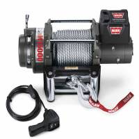 Winches & Recovery - Winches - Warn - Warn 12 Volt 15000 LB Cap 90 Ft Wire Rope Roller Fairlead Wired Remote 47801