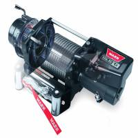 Winches & Recovery - Winches - Warn - Warn 12 Volt 16500 LB Pull Line Cap 90 Ft Wire Rope Roller Fairlead Wired Remote 68801