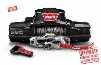 Warn - Warn 12 Volt Two 16 amp Accessory Ports 10000 LB Cap 100 Ft Spydura Synthetic Rope 92815