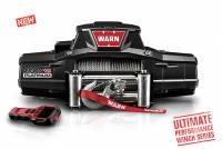 Warn - Warn 12 Volt Two 16 amp Accessory Ports 12000 LB Cap 80 Ft Wire Rope Wireless Remote 92820