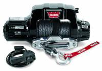 Winches & Recovery - Winches - Warn - Warn 12 Volt 9500 LB Cap 100 Ft Synthetic Rope Hawse Fairlead Wired Remote 97600