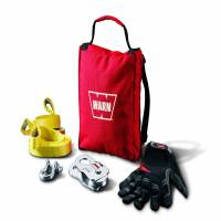 Warn - Warn Includes 9000 LB Snatch Block Tree Protectors 1/2 Inch D-Shackle Gloves Gear Bag 88915