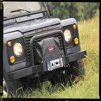 Winches & Recovery - Winch Covers - Warn - Warn 9.5ti and XD9000i on Trans4mer Combo Multi-Mount and Flatbed Nylon-Backed Vinyl 13917