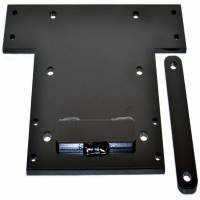 Winches & Recovery - Winch Mounts - Warn - Warn For 4000 to 4500 Pound Winches; Fixed Mount; Powder Coated; Black 80371