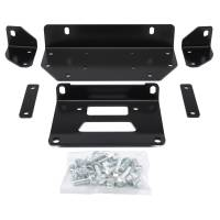 Winches & Recovery - Winch Mounts - Warn - Warn For 4000 to 4500 Pound Winches; Fixed Mount; Powder Coated; Black 92596