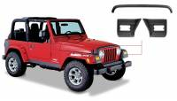 Exterior - Accessories - Bushwacker - Bushwacker TrailArmor™ Hood Stone Guard And Front Corners Set 2004-2003 Jeep Wrangler 14005