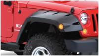 Bushwacker - Bushwacker Max Coverage Pocket Style® Fender Flares - Front 2007-2017 Jeep Wrangler 10045-02