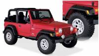 Bushwacker - Bushwacker Pocket Style® Fender Flares - Front and Rear 2004-2003 Jeep Wrangler 10908-07