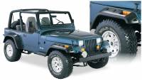 Bushwacker - Bushwacker Cut-Out™ Fender Flares - Front and Rear 1991-1995 Jeep Wrangler 10909-07