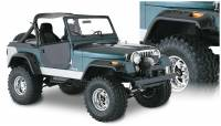 Bushwacker - Bushwacker Cut-Out™ Fender Flares - Front and Rear 1956-1958 Jeep Willys 10910-07