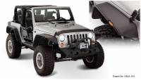 Bushwacker - Bushwacker Flat Style Fender Flares - Front and Rear 2007-2017 Jeep Wrangler 10919-07