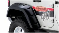 Bushwacker - Bushwacker Max Coverage Pocket Style® Fender Flares - Rear 2010-2009 Jeep Wrangler 10044-02