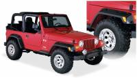 Bushwacker - Bushwacker Pocket Style® Fender Flares - Front and Rear 1997-2006 Jeep Wrangler 10917-07