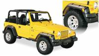 Bushwacker - Bushwacker Pocket Style® Fender Flares - Front and Rear 2004-2003 Jeep Wrangler 10913-07