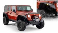 Bushwacker - Bushwacker Flat Style Fender Flares - Front and Rear 2010-2009 Jeep Wrangler 10918-07