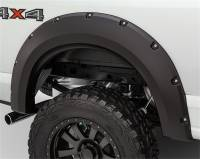 Bushwacker - Bushwacker Max Coverage Pocket Style® Fender Flares - Rear 2016-2015 Chevrolet Silverado 1500 40098-02