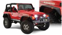 Bushwacker - Bushwacker Flat Style Fender Flares - Front and Rear 2006-2005 Jeep Wrangler 10920-07