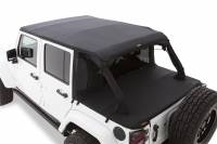 Bushwacker - Bushwacker TrailArmor™ Twill Flat Back Soft Top 2016-2017 Jeep Wrangler 15225